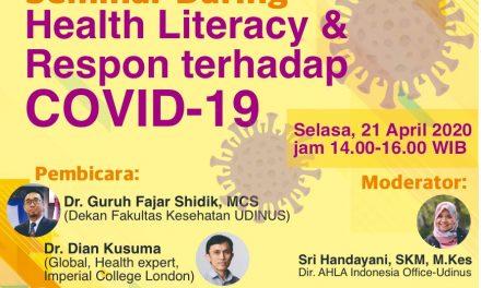 Rangkuman Seminar Daring Health Literacy dan Respon terhadap COVID-19