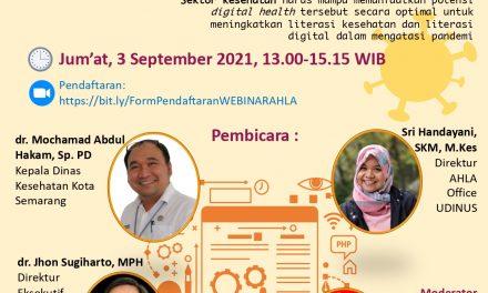 Seminar Daring: Optimalisasi Potensi Digital Health di era Pandemi COVID-19